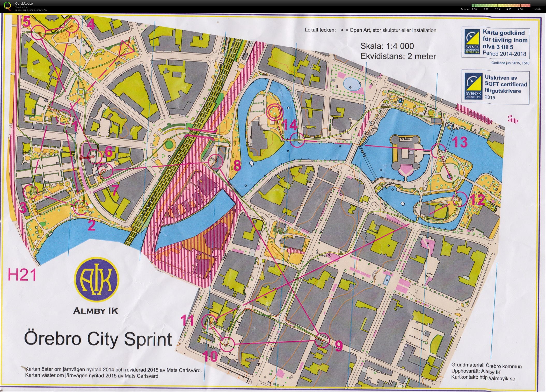 Örebro City Sprint + Sommarsprinten #3 (2015-06-21)